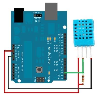 Подключение DHT к Arduino