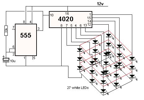 Схема Led Cube 3x3x3