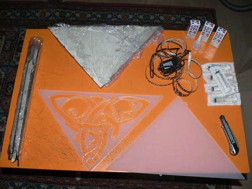 Матовый плексиглас, полистирол, светодиодная лента
