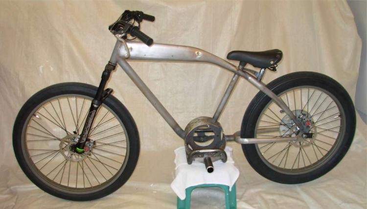 Рама велосипеда подготовлена