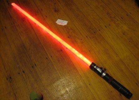 Световой меч, созданный своими руками