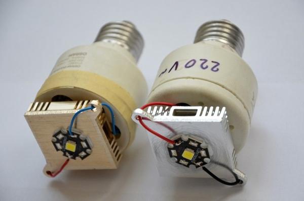 Собранные светодиодные лампы