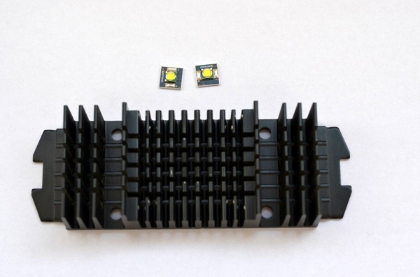 Светодиоды и радиатор для светильника