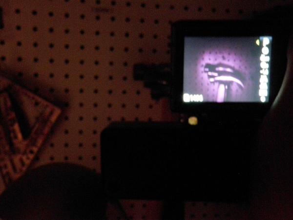 Снимок ИК камерой в темноте