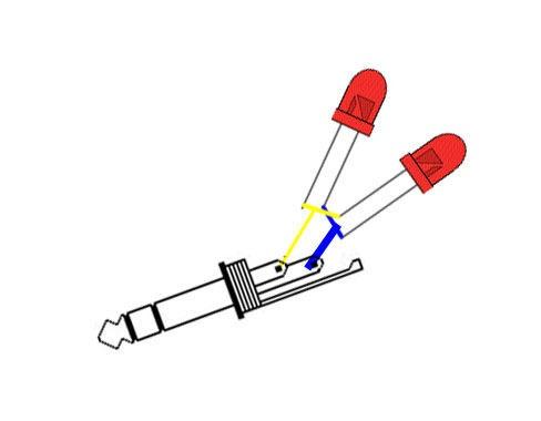 Схема пайки светодиодов и разъема