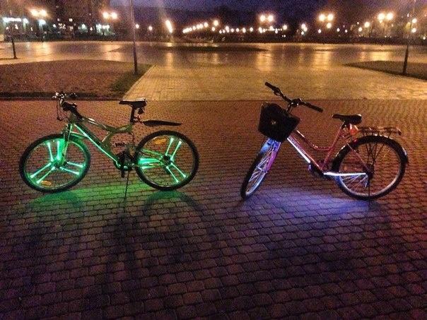 Светодиодная подсветка на колеса велосипеда своими руками 76