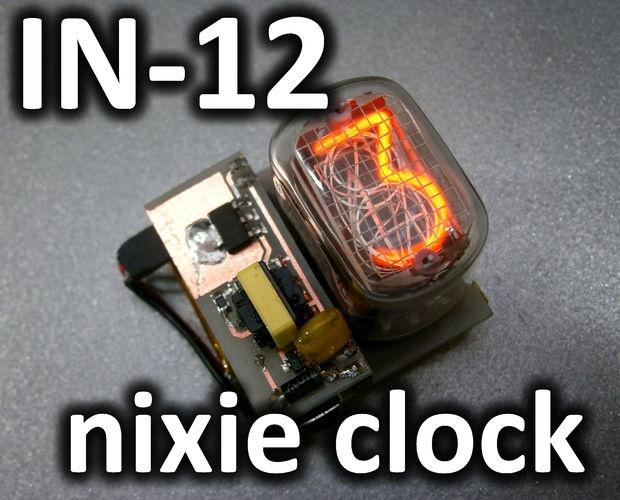 Часы на одной индикаторной